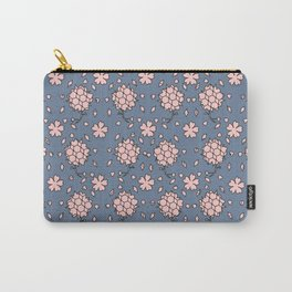 Flower pattern cutout(light_navy_pink) Carry-All Pouch
