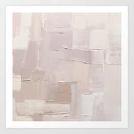 Oyster Pink Mix Abstract Painting Art Print