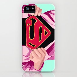 Girl, you're super iPhone Case
