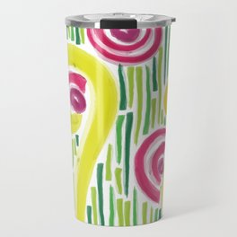 Spring in the backyard (of shapes and colors) Travel Mug