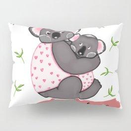 Cute Koalas in jackets Pillow Sham
