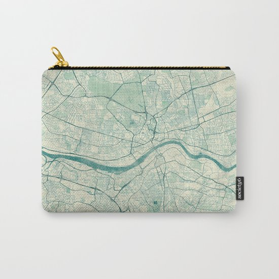 Newcastle upon Tyne Blue Vintage Carry-All Pouch