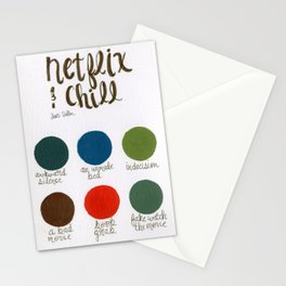Netflix & Chill - Palette Stationery Cards