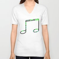 record V-neck T-shirts featuring Broken Record by StevenARTify