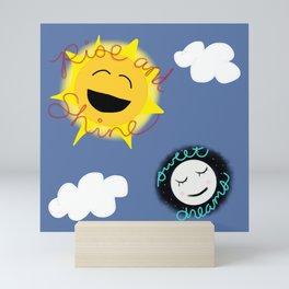 Rise and Shine/Sweet Dreams Mini Art Print