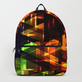 Bright shiny triangles. Backpack