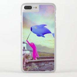 corsa col pesce Clear iPhone Case