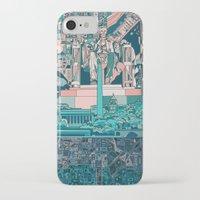 washington dc iPhone & iPod Cases featuring washington dc city skyline by Bekim ART
