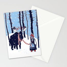 Den Swedish Christmas Moosen Stationery Cards