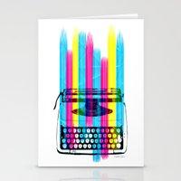 typewriter Stationery Cards featuring Typewriter by Elizabeth Cakovan