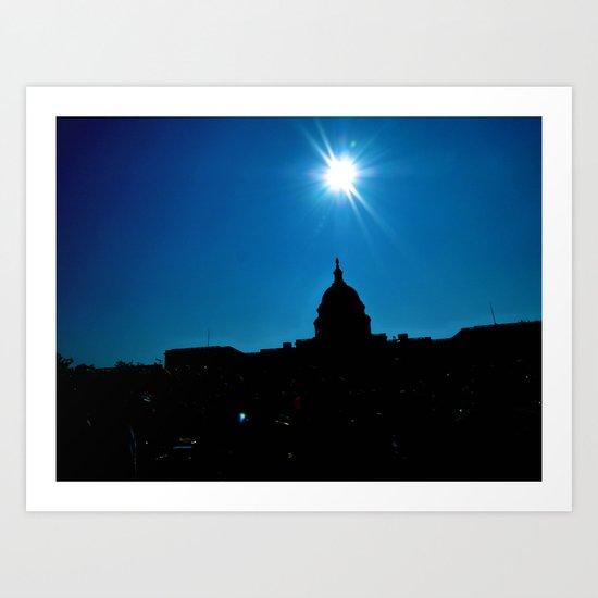Capitol Sky Art Print