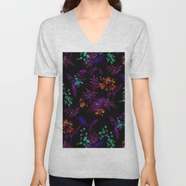 Night Garden Unisex V-Neck