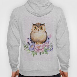 Bohomian Animal Illustration- Be Wise Little Owl Hoody