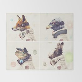 Star Team - Legends of Lylat Throw Blanket