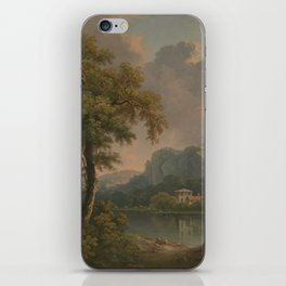 Abraham Pether - Wooded Hilly Landscape (1785) iPhone Skin