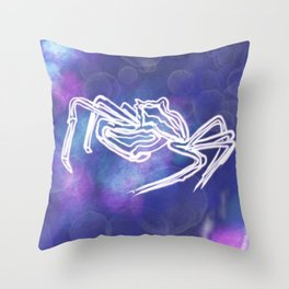 Crabby Electrified Skeleton Under the Sea Throw Pillow