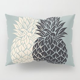 Pineapple, grey , black , tropical , hawaii , summer , fruit , pineapple print , pineapple design Pillow Sham