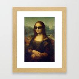 Hipster Mona Lisa in her Hipster Shades Framed Art Print