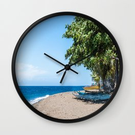 A Bend in the Beach Wall Clock