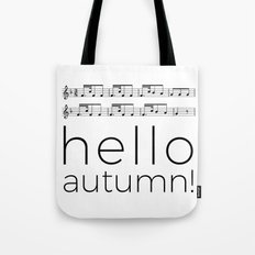 Hello autumn! (white) Tote Bag