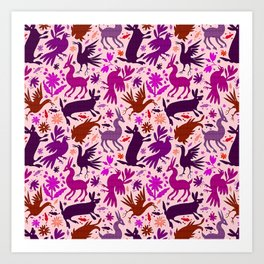 Otomi Inspiration (Pink) Art Print