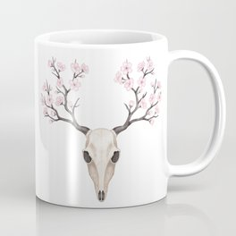 Blooming deer skull Coffee Mug
