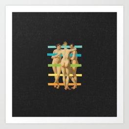 Les Trois Graces Art Print
