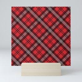 Scottish Plaid-Red Mini Art Print