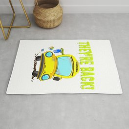 Monster Bus For Teachers and Staff Funny Back To School Gift Idea Rug