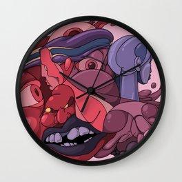 Weird Faces Wall Clock