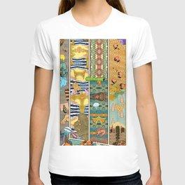 Comic Strip Wall Wth Paper T-shirt