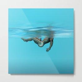 Swimming in the pool Metal Print