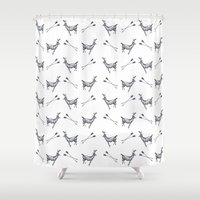 stag Shower Curtains featuring stag by Ben Wills Illustration and Art