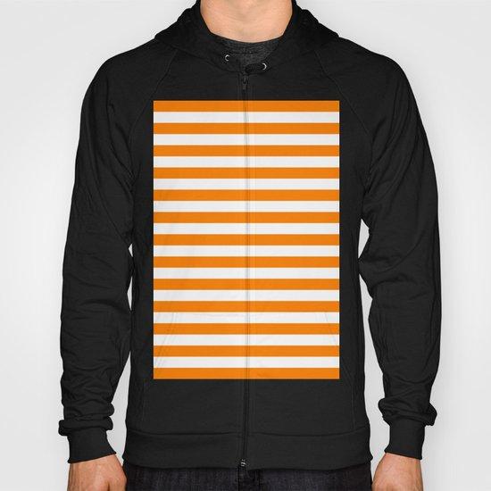 Horizontal Stripes (Orange/White) Hoody