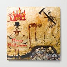Halloween  Monsieur Bone 4 Metal Print