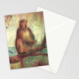 Indian monkeys. Macacos. Animals Stationery Cards