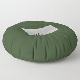 Chinese zodiac sign Dog green Floor Pillow