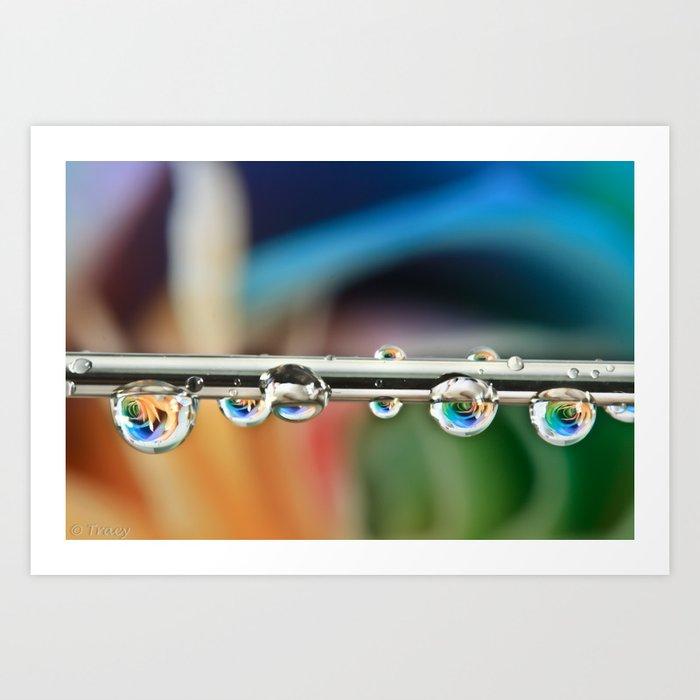 Silver Drops Art Print