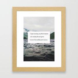 Find someone Framed Art Print