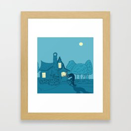 Wolf at the... Framed Art Print