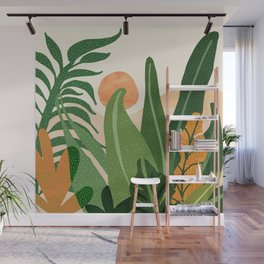 Desert Garden Sunset Wall Mural