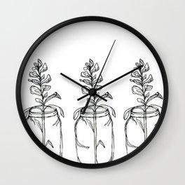 Three Lupins Wall Clock