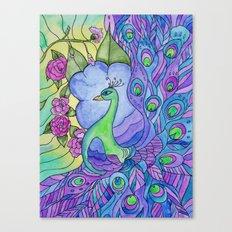 Peacock Garden Too Canvas Print