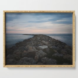 The Jetty at Sunset - Landscape Serving Tray