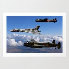 Avro Sisters Art Print
