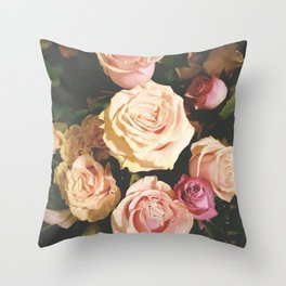 Stop to smell the roses... Throw Pillow