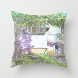Colonial House 2 Throw Pillow