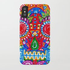 A really colourful skull iPhone X Slim Case