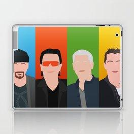 U 2 - Bono, the Edge, Adam Clayton, Larry Mullen Jr Laptop & iPad Skin