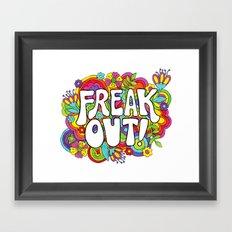 Freak Out! Framed Art Print